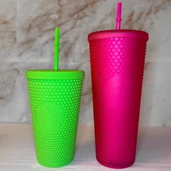 Starbucks Neon Green & Neon Pink Studded